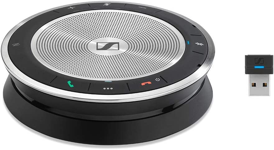 Sennheiser SP 30+ (508346) Sound-Enhanced, Wired or Wireless Speakerphone   Desk, Mobile Phone & Softphone or PC Connection   Unified Communications Optimized