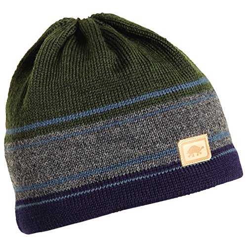Turtle Fur Men's Skipper, Classic Wool Knit Ski Hat, Ink