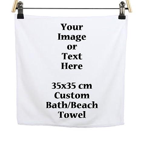 Foto o texto Imagen DIY Impresión personalizado ducha baño / playa normal regalo cuadrado toalla 19