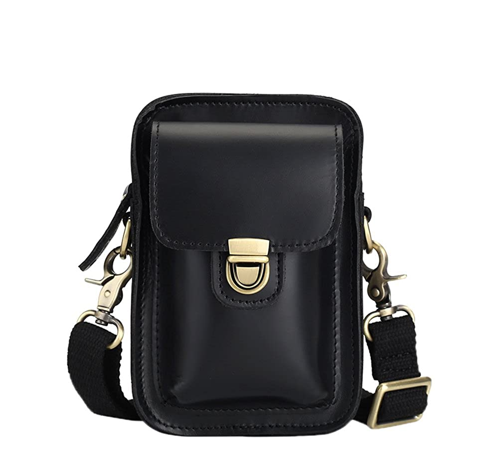 Genda 2Archer Vintage Small Crossbody Shoulder Bag Waist Pack Leather Belt Pouch