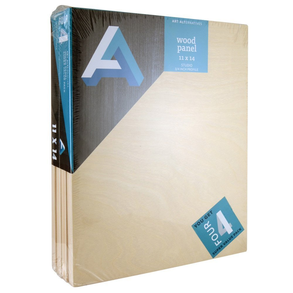 Art Alternatives Wood Panel Super Value 11x14 Pack of 4 by Art Alternatives