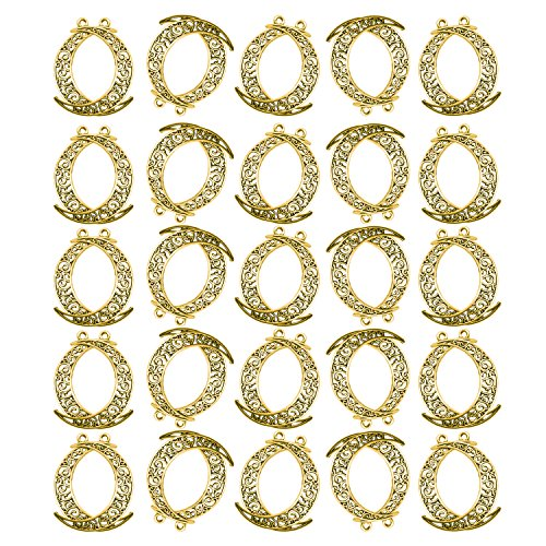 SuZhi 50 Pcs Hollow Moon Luna Crescent Symbol Charms Pendant Bracelet Necklace Earrings Crafting DIY Jewelry Making Accessory (Butterfly Charm 4 Jewelry Bracelets)