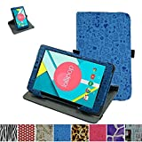 """Mama Mouth 360 Degree Rotating Stand With Cute Pattern Case for 8"""" Nextbook Ares 8 (NXA8QC116) / Flexx 8 (NXW8QC132) / Nextbook 8 (Old Version NXW8QC16G) Windows 8.1 Tablet,Blue"""