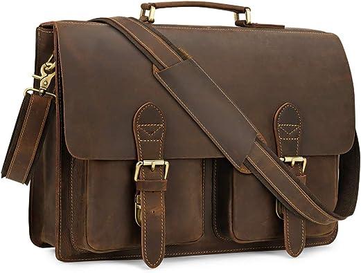 Kindlov-BG Men Laptop Briefcase Bag Mens Leather Briefcase Messenger Crossbody Satchel Handbag Briefcase Messenger Bag for 15 inch Laptop for School Travel Color : Blue