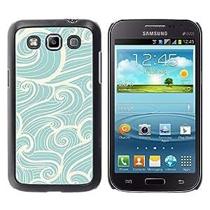 YOYOYO Smartphone Protección Defender Duro Negro Funda Imagen Diseño Carcasa Tapa Case Skin Cover Para Samsung Galaxy Win I8550 I8552 Grand Quattro - olas de viento navegar azul del vintage blanco