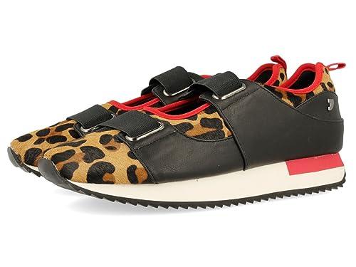 Gioseppo 30609, Zapatillas para Mujer, Rojo (Leopardo), 36 EU: Amazon.es: Zapatos y complementos