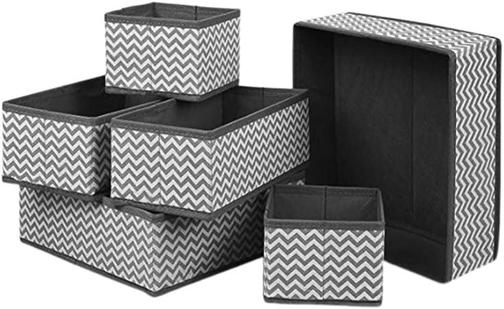 TOPBATHY 6 Piezas de Tela Plegable Caja de Almacenamiento Armario Armario cajón Organizador Ropa Interior Tela Divisor cestas contenedores para Sujetadores Calcetines lencería: Amazon.es: Hogar