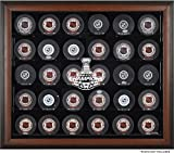 30 puck display case - Washington Capitals 2018 Stanley Cup Champions Brown Framed 30-Puck Logo Display Case - Hockey Puck Logo Display Cases