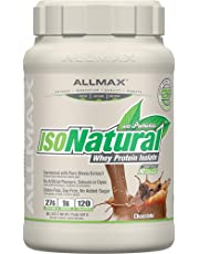 ALLMAX Nutrition - ISONATURAL - 100% Ultra-Pure Natural Whey Protein Isolate - Chocolate - 2 Pound