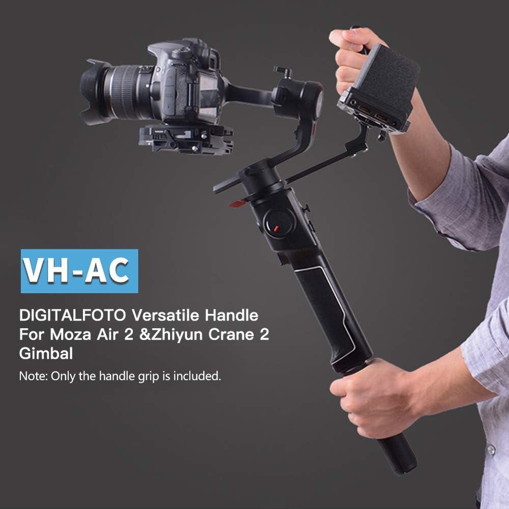 RuleaxA DF DIGITALFOTO VH-AC Aluminium Alloy Versatile Handle Grip Anti-Slip Handle Design with 1//4 /& 3//8 Inch Screw Mount for Moza Air 2 /& Zhiyun Crane 2 Gimbal Stabilizer Accessory