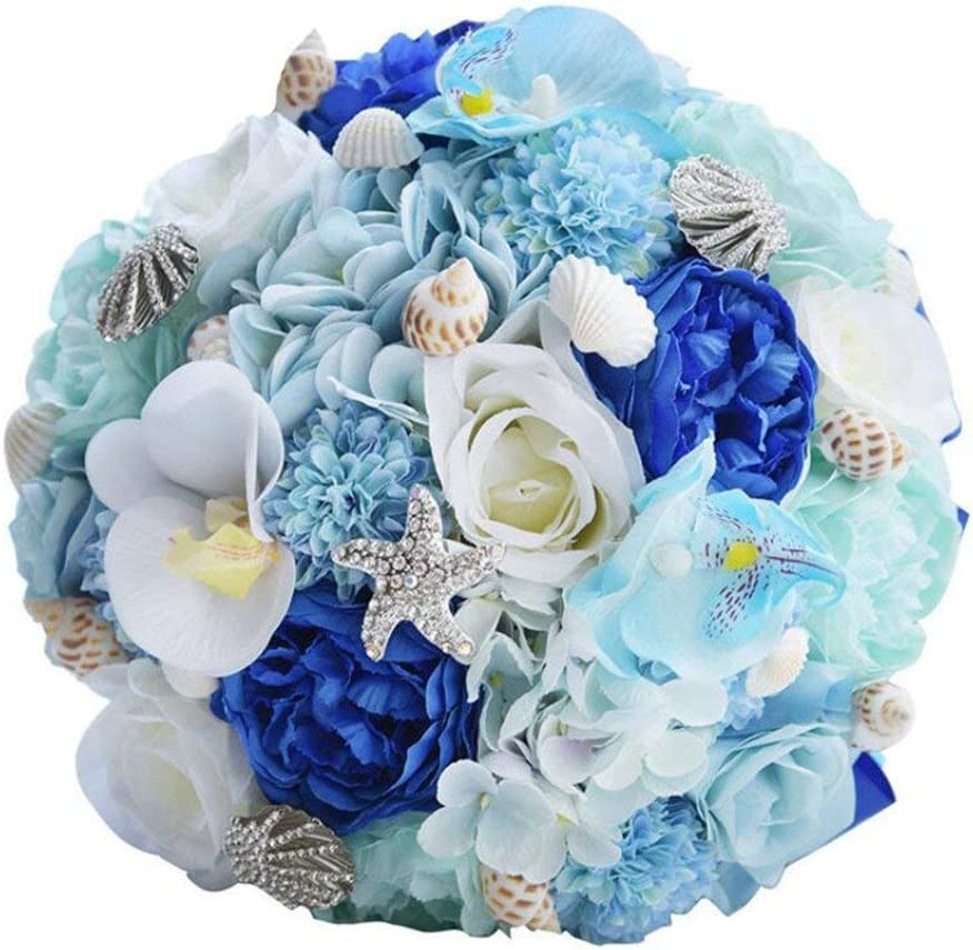 Amazon Com Wedding Bridal Bouquet Home Beach Seashell Wedding