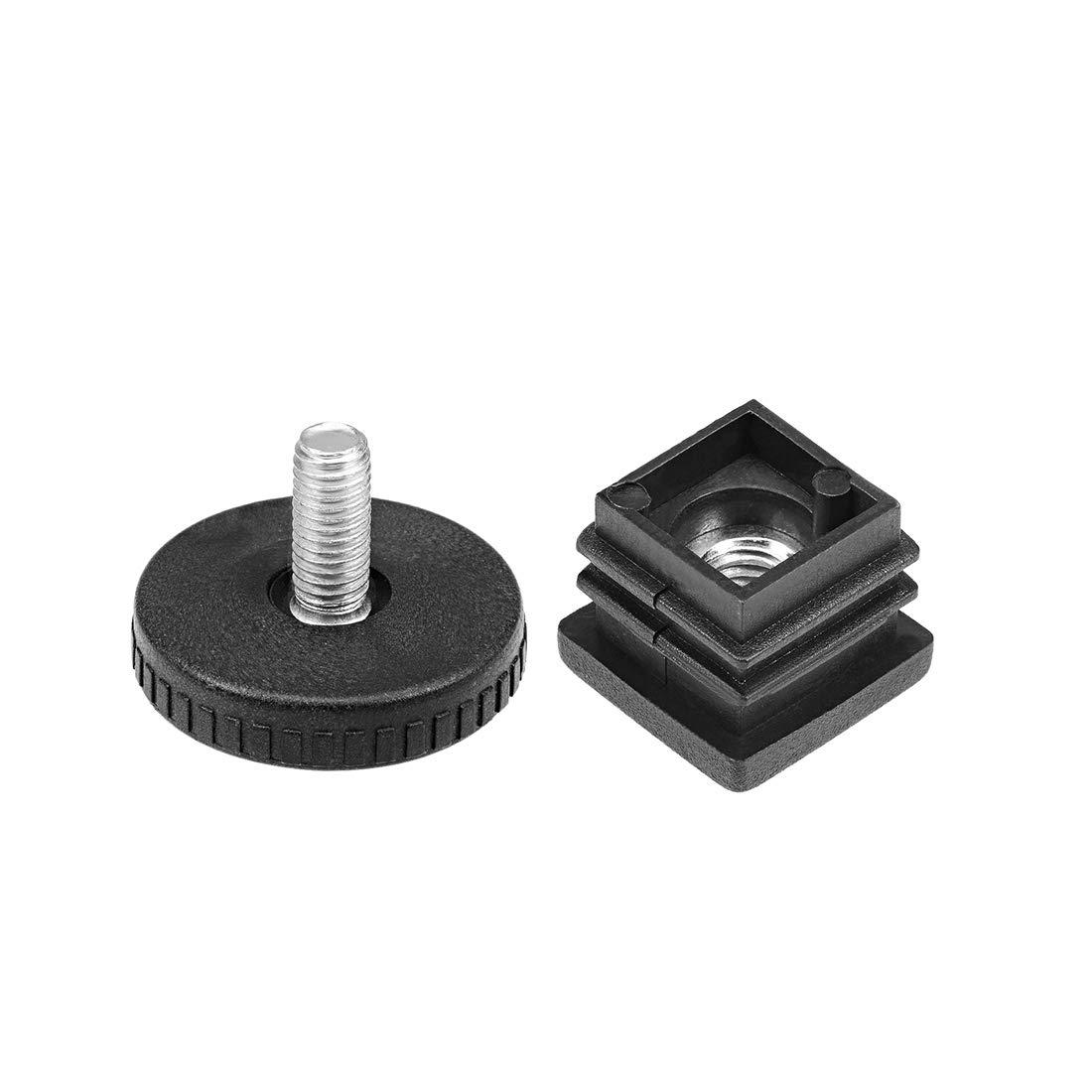 uxcell Furniture Levelers Adjustable Leveling Glides 40mm Base Dia M8 Thread 8pcs