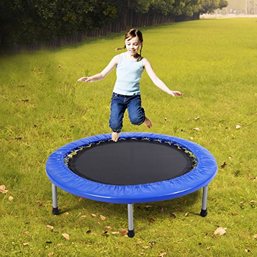 MD Group Trampoline 38'' Mini Band Exercise Rust Resistant Frame with Padding & Springs by MD Group