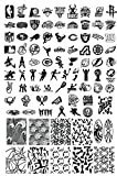 Shari Halloween Nail art Tips Image Stamp Plates Polish Stamping Manicure Image DIY HWH-10