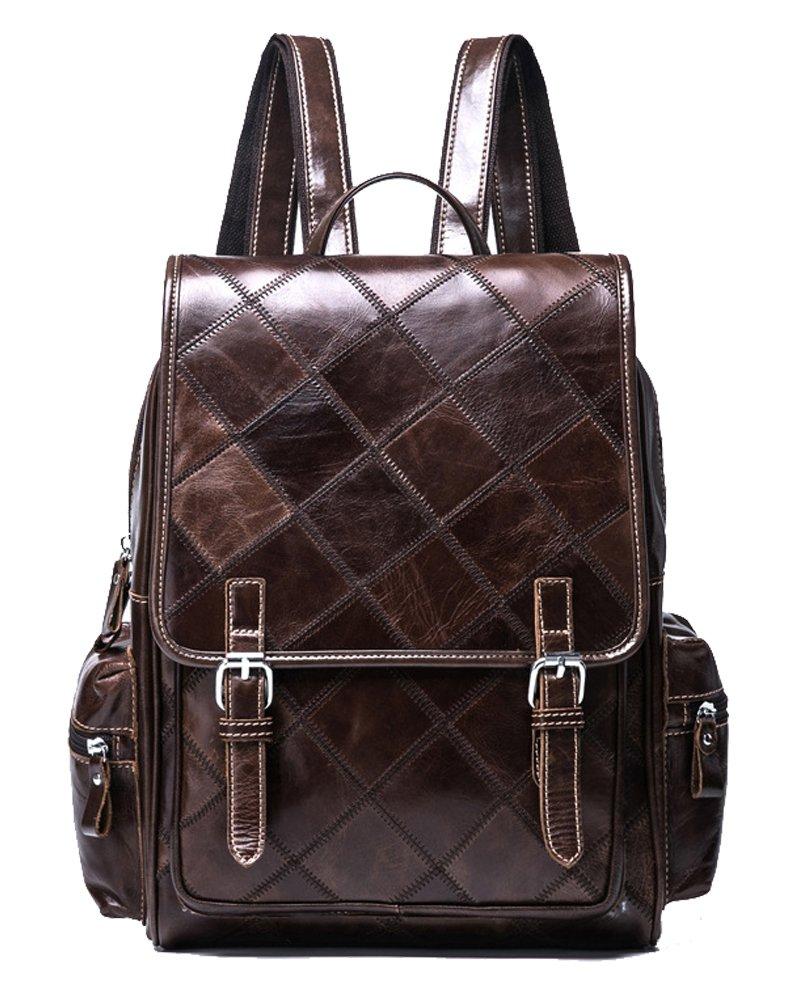 VM FASHION KISS Zipper&hasp Casual Crazy Horse Genuine Leather Backpack vintage Bag