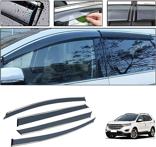 Saitake Windabweiser Für Ford Edge 2015 2019 4pcs Autofenster Visier Sonne Regen Rauchabzug Schatten Klebeband Außenvisiere Auto