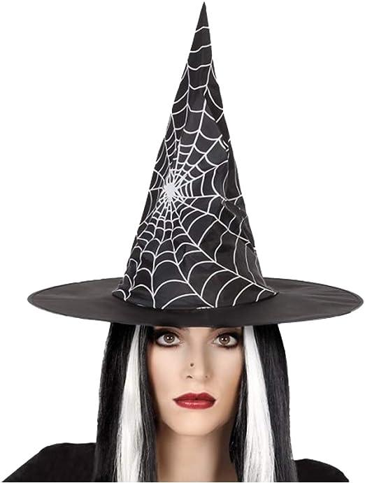 Cisne 2013, S.L. Sombrero de Bruja Negro con telaraña para Disfraz ...