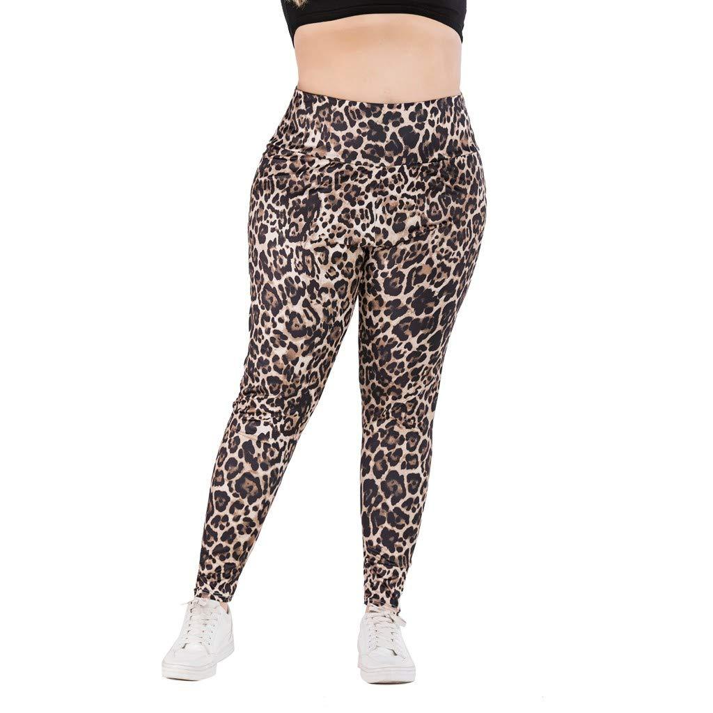 Casual Pantalones Mujer Tallas Grandes Pantalones Con Estampado De Leopardo Pantalon Cintura Alta Skinny Pantalon Chandal Negro Leggings Deporte Cinnamou Pantalones Mujer Shorts Y Bermudas
