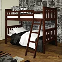 T/T BUNK BED TILTED LADDER DARK CAPPUCINO - DARK CAPPUCINO