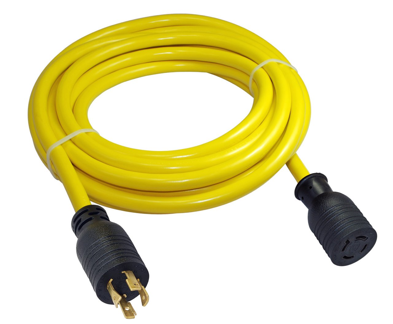 Conntek 20592 Generator Extension Cord 50-Foot 10/4 20 Amp 125/250 Volt 4 Prong Eextension Cord