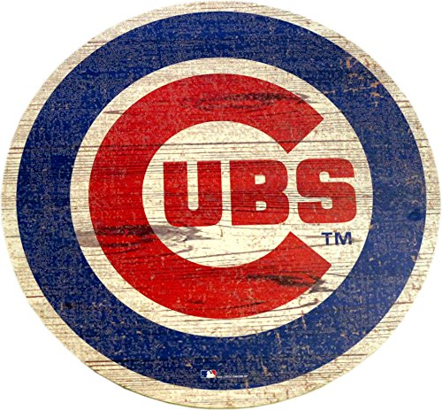 Fan Creations Chicago Cubs Logo Cutout Wood Sign 24