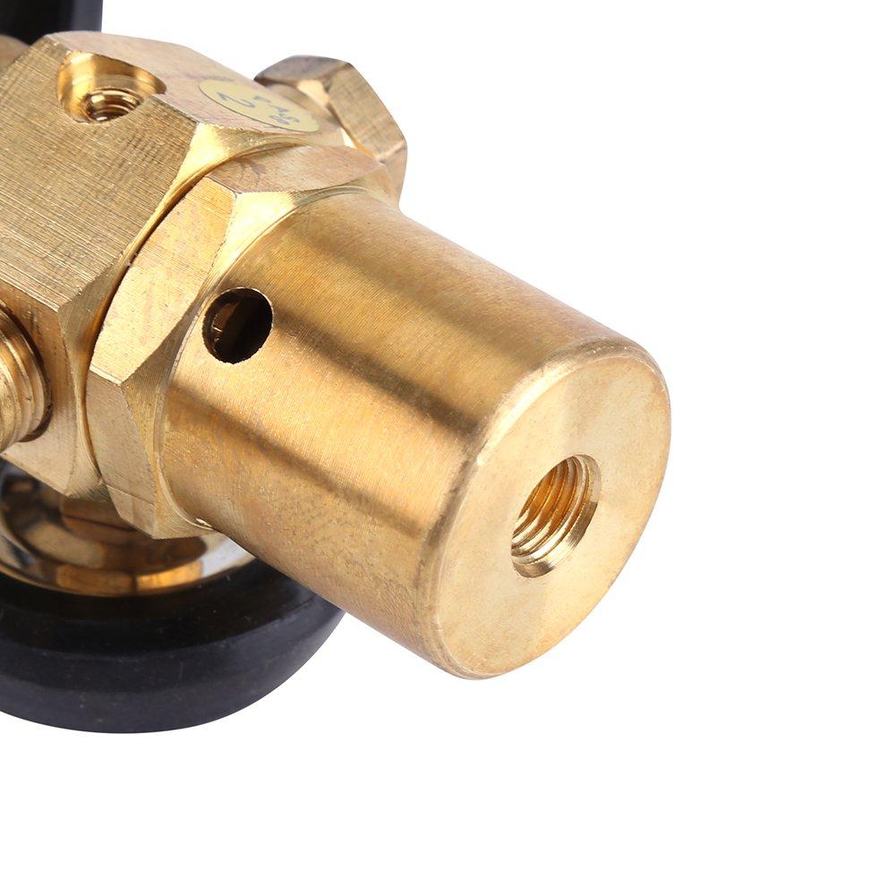 Zerodis Palloncino Gonfiabile regolatore di gonfiaggio valvola di Regolazione della Pressione con Air Flow Meter Gauge Fit per Presa Filettatura G5//8/Tank valvole