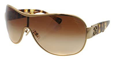 676bf362757a Coach Women's Gradient HC7005B-901813-35 Gold Shield Sunglasses ...