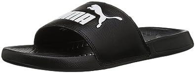 f08553bebee5cd PUMA Women s Popcat WNS Slide Sandal Black-White 5.5 M US