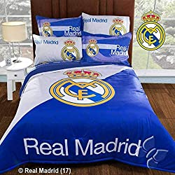 Real Madrid Spain Soccer Team Comforter Bedding Set Sports Futbol Gift FULL - 3 Pieces