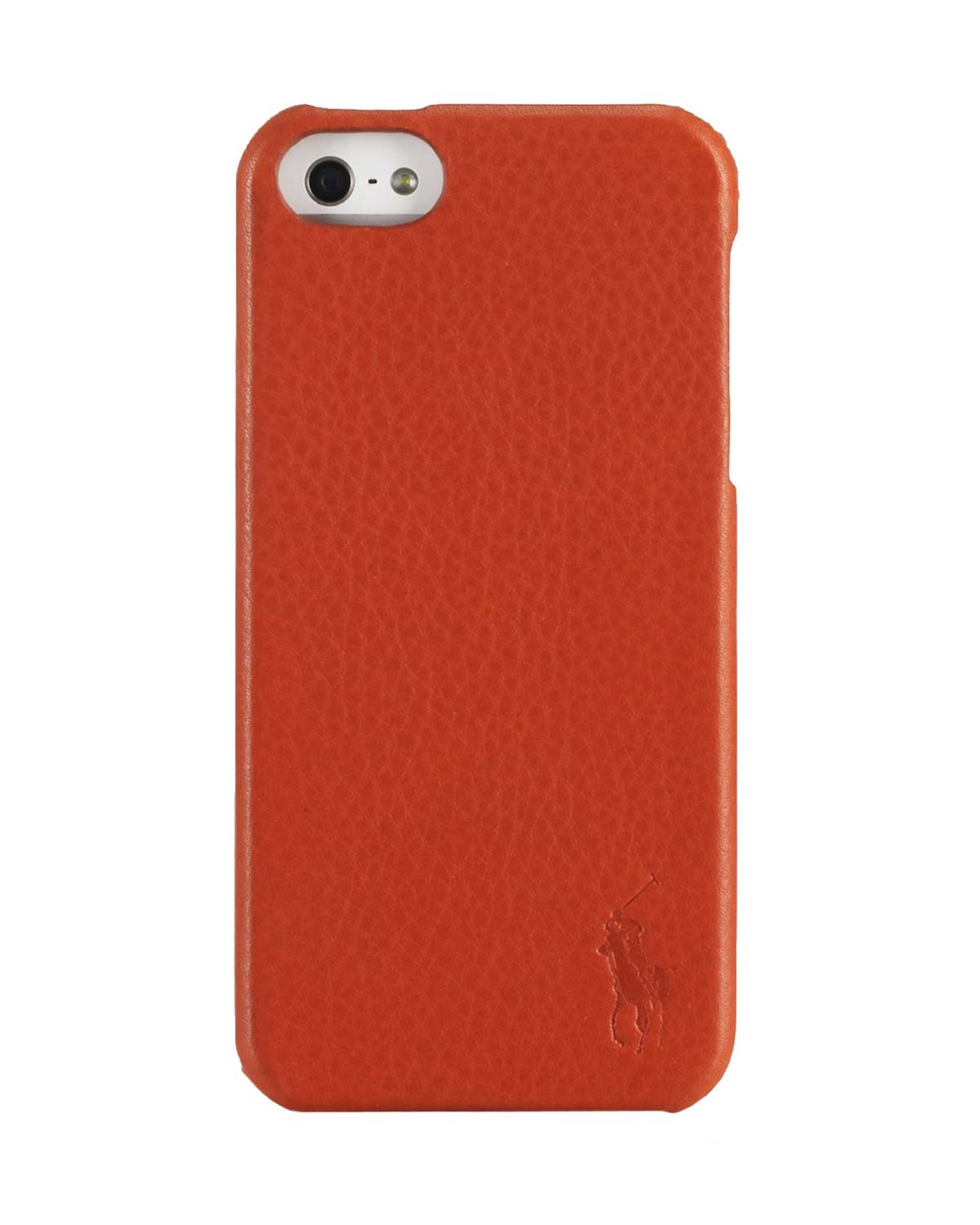 Polo Ralph Lauren iPhone 5 funda, Pebbled piel naranja OS: Amazon ...