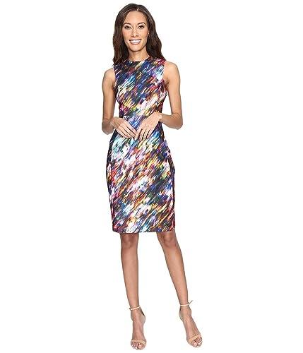 Calvin Klein Womens Blured Print Sheath Dress CD7C4903