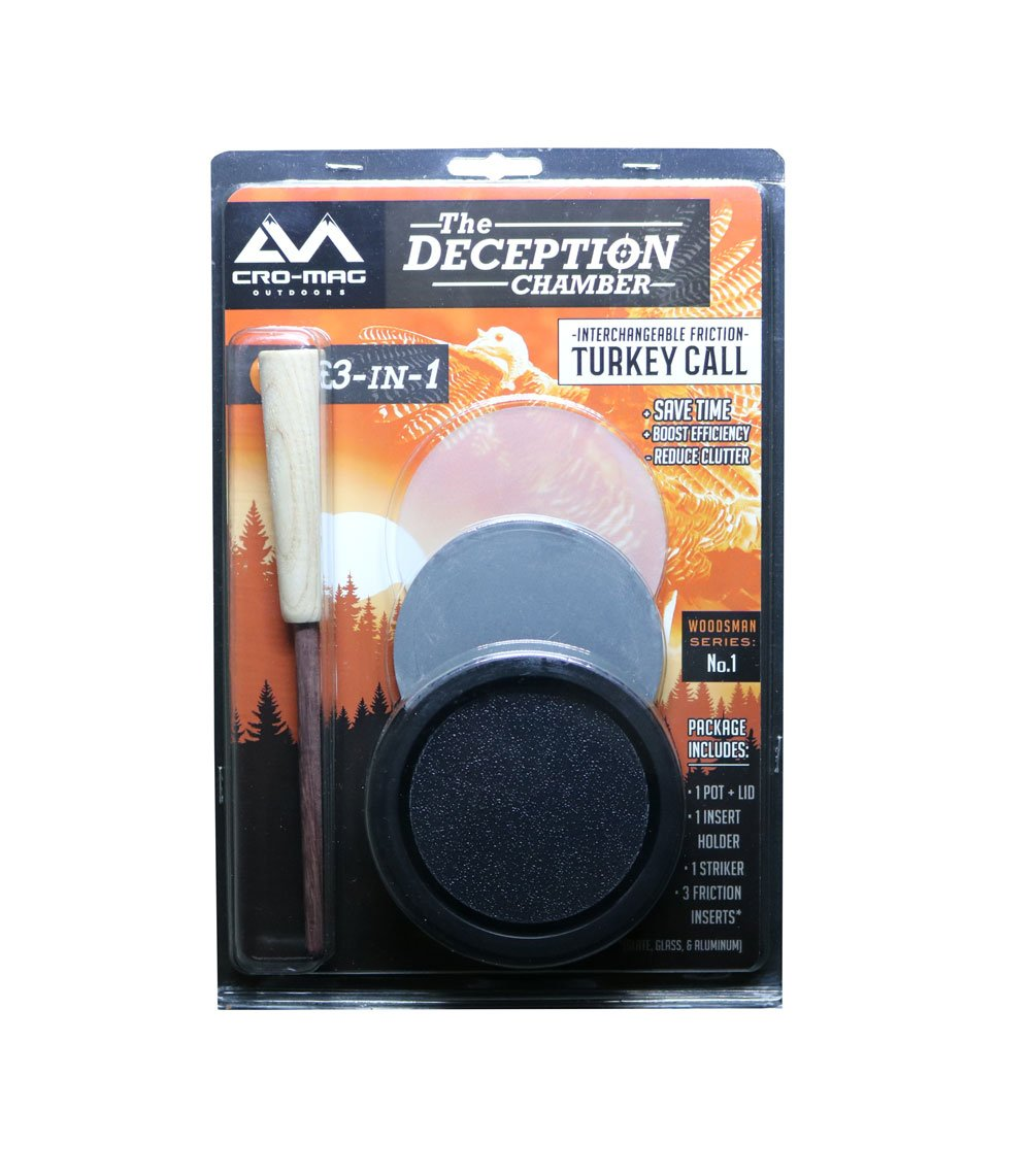 Cro-Mag Outdoors The Deception Chamber 3-In-1 Interchangeable Friction Turkey Call by Cro-Mag Outdoors (Image #7)