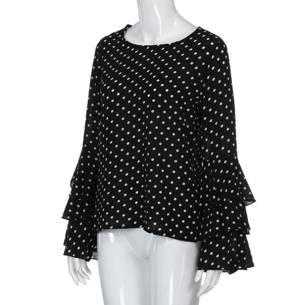Amazon.com: Photno Blusas de mujer con estampado de lunares ...