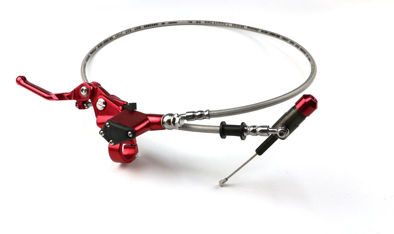 todoterrenos moto de cross rojo Manguera de embrague hidr/áulico con palanca y cilindro maestro//esclavo para motocicletas