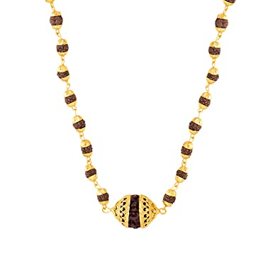 d0d42c6275f1f2 Buy Voylla Chain Necklace for Men (Golden)(8907617457079) Online at Low  Prices in India