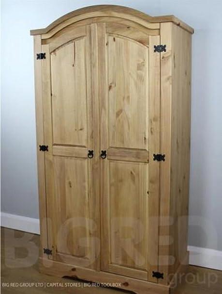 Corona a messicano in legno di pino massiccio grezzo 2 porta