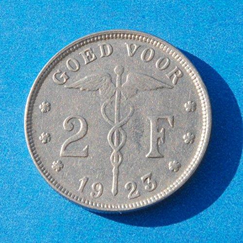 Belgium 2 Francs 1923 Coin