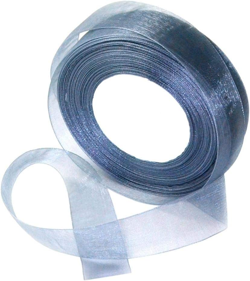 perfektchoice 50 Yards 25mm Wide Polyester Satin Ribbon Organza Ribbon for Wedding Gifts Wrapping DIY Bows and Craft Black
