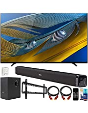 $1698 » Sony XR55A80J 55-inch A80J 4K OLED Smart TV (2021 Model) Bundle with Deco Gear Home Theatre Soundbar with Subwoofer, Wall Mount Accessory Kit, 6FT 4K HDMI 2.0 Cables and More