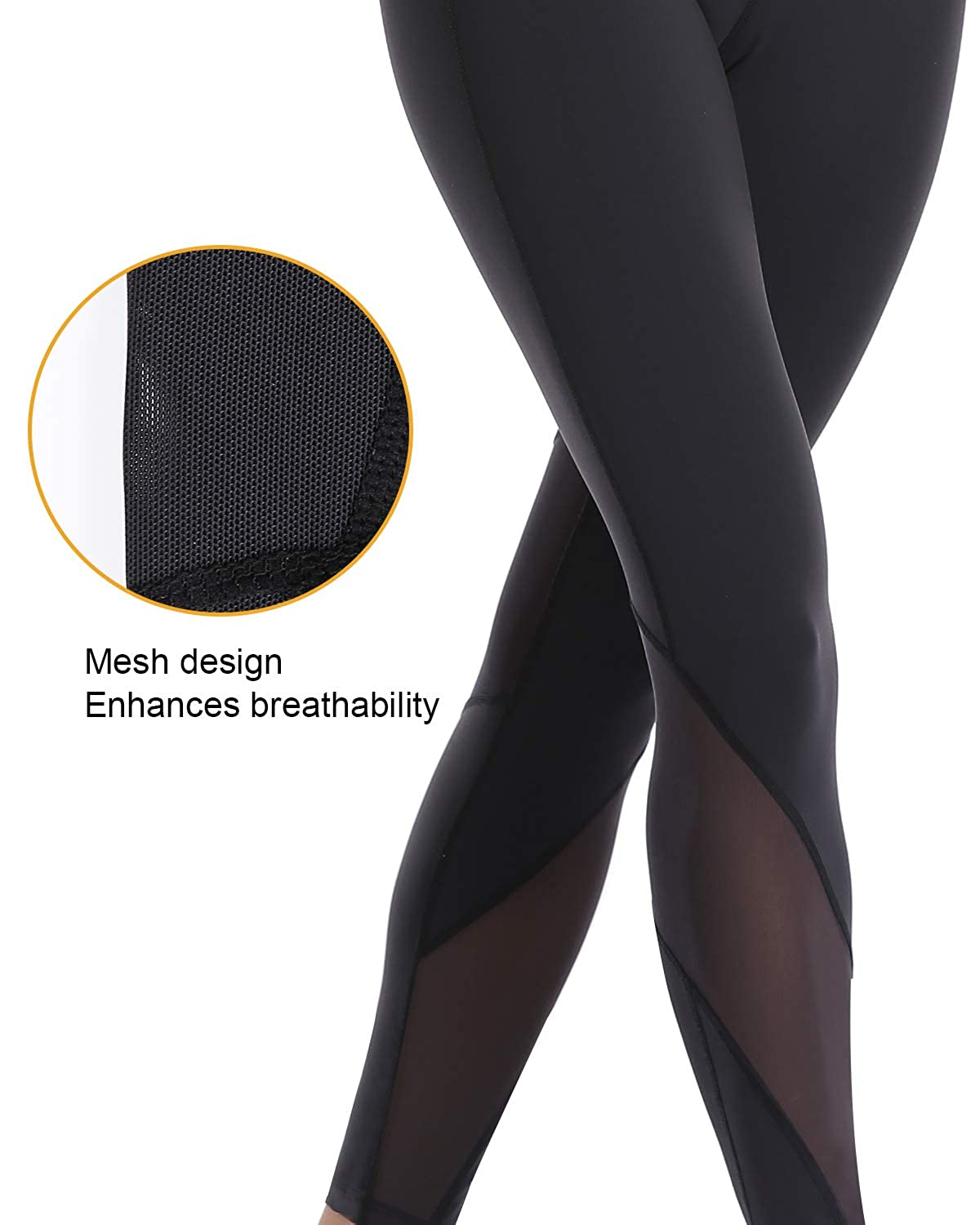 32e-SANERYI Professional Running Leggings Nylon Lycra Performance Full Length Pants for Women with Mesh Design
