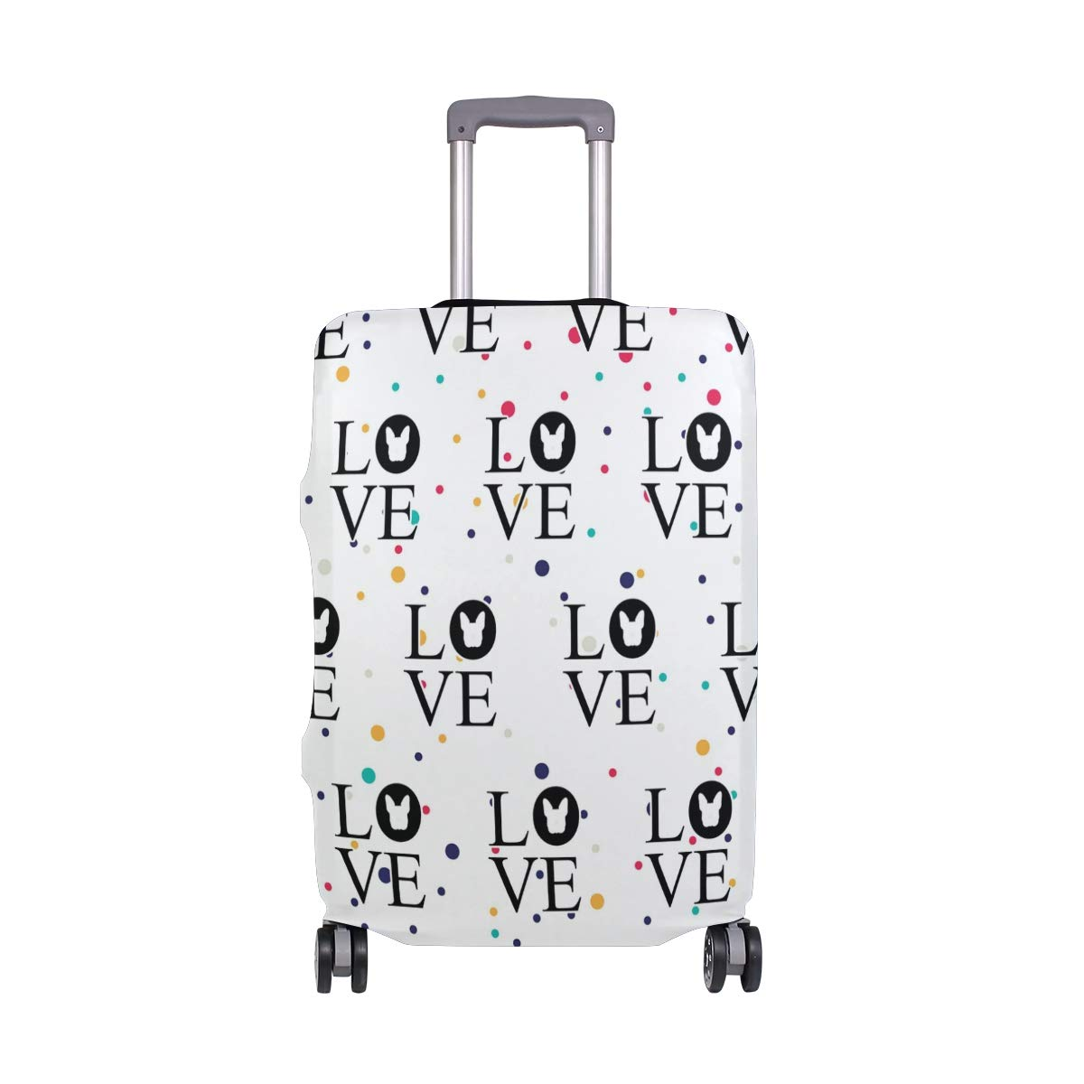 Bulldog Love Travel Luggage Cover - Suitcase Protector HLive Spandex Dust Proof Covers with Zipper, Fits 18-32 inch