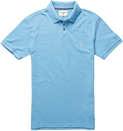 Billabong Hombre Martin Polo Polo camisa azul (Powder Blue) medium ...