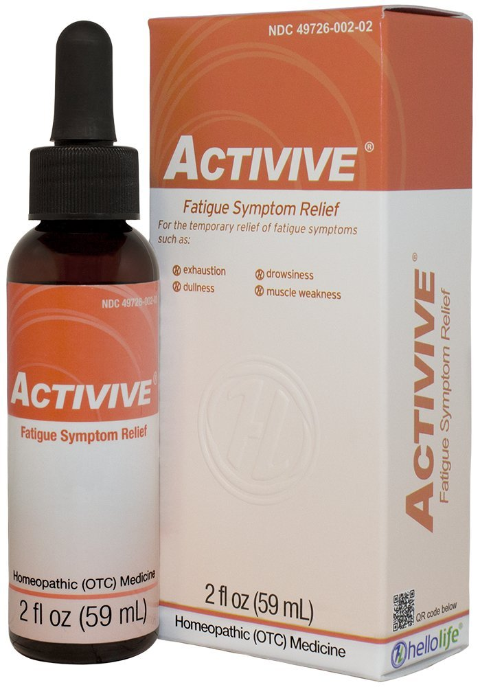 HelloLife Activive - Natural Fatigue Symptom Relief such as Exhaustion, Drowsiness, and Muscle Weakness