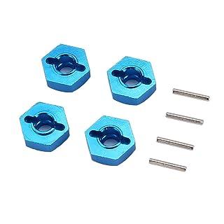 Delicacydex Kit di Pezzi di Ricambio per connettore Esagonale in Metallo 12 mm T-Power per Wltoys A959 / A949 / A969 / A979 / K929-B RC Car