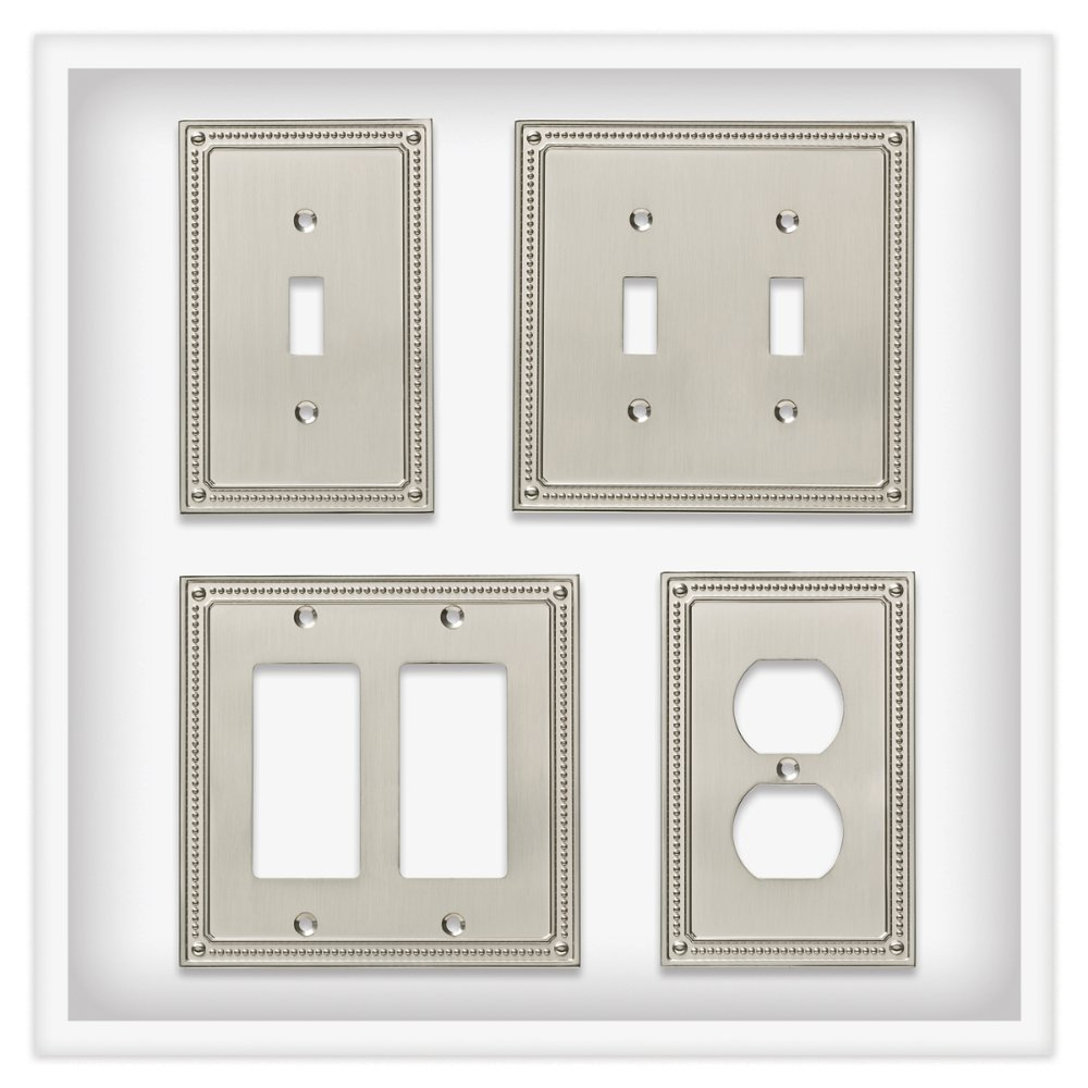 Franklin Brass W35066-SN-C Classic Beaded Triple Switch Wall Plate/Switch Plate/Cover, Satin Nickel by Franklin Brass (Image #4)