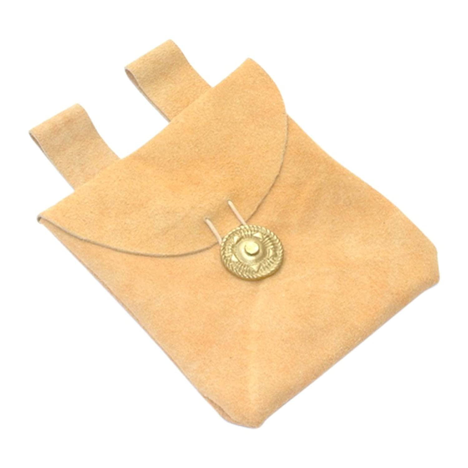 Petite Medieval Gold Suede Belt Pouch