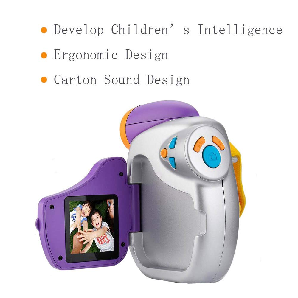 Eoncore 1080P Kids Digital Camera Video Cameras Recorder for Boys Girls with 8GB Memory Card (Purple) by Eoncore (Image #2)