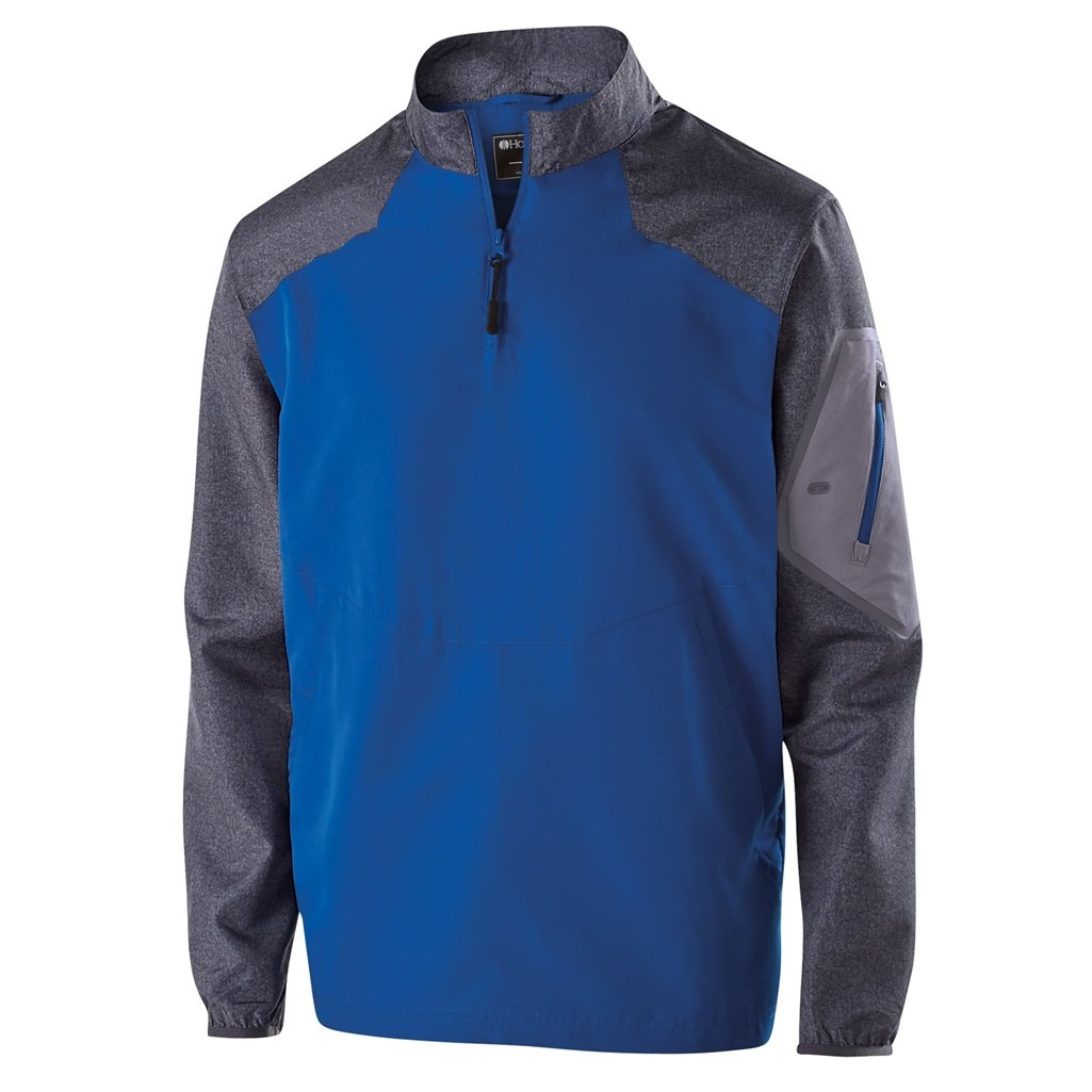 Holloway Youth Raider Pullover (Medium, Carbon Print/Royal) by Holloway