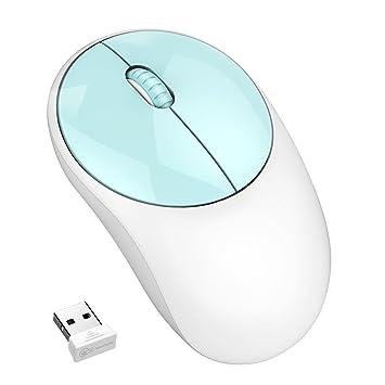 Ratón inalámbrico, sin ruido de clic y motor sin luz de 2,4 G