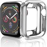 HOCO コンパチブル Apple Watch Series 4 ケース アップルウォッチ4 カバー 44mm 透明 TPU ケース 耐衝撃性 超簿 脱着簡単 アップルウォッチ 保護ケース Apple Watch 4に対応 (シルバー/44mm)